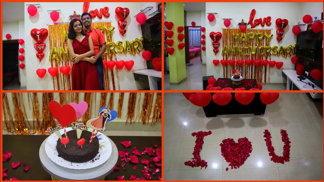Wedding Anniversary Decoration Ideas At Home Romantic Room Decor Ideas Youtube