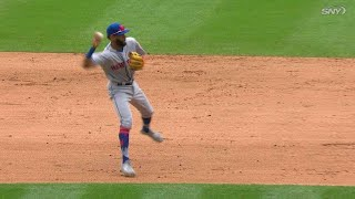 NYM@COL: Rosario starts a 6-4-3 double play