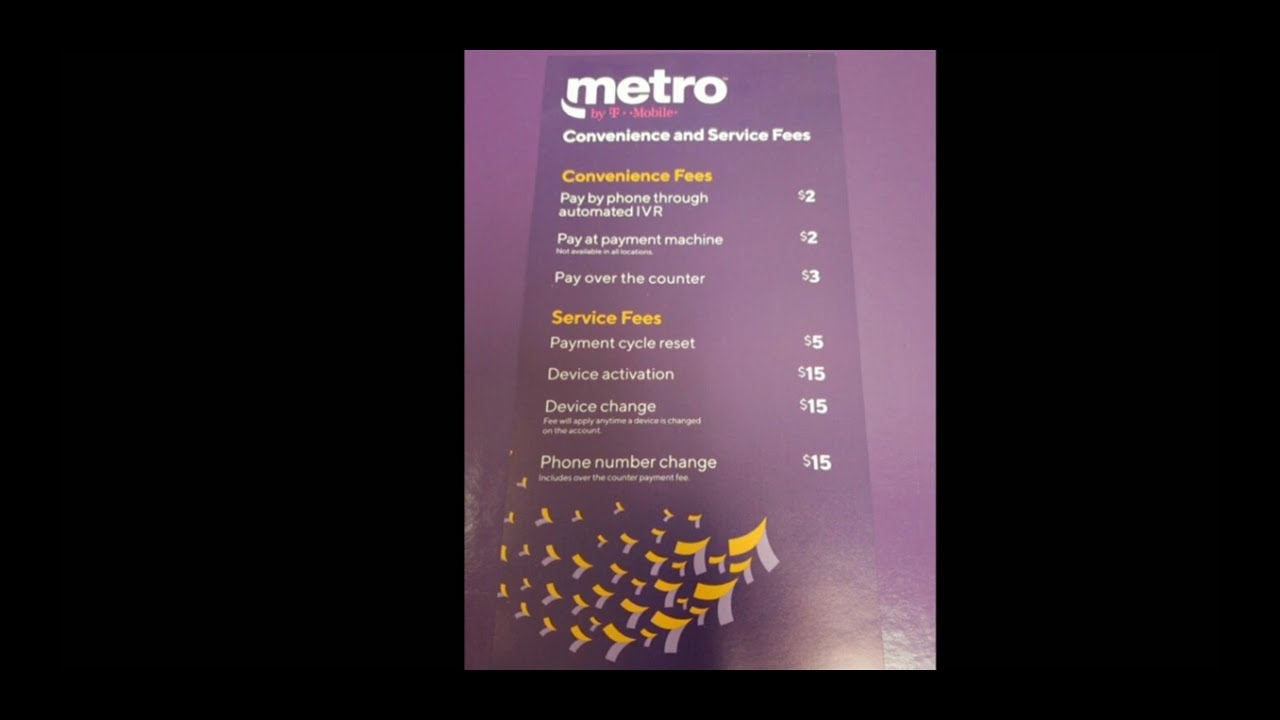 New Fees Pricing From Metro by T-Mobile Starting October 8th