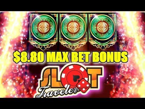 ★ BIG WIN ★ $8.80 MAX BET 💰 SLOT MACHINE BONUS PLAY | Slot Traveler