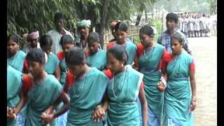 Santali tribal dance welcome, Barharwa, Jharkhand, India
