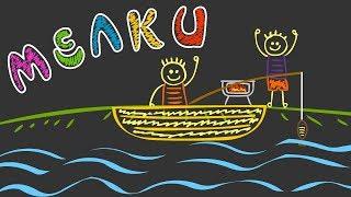 Цветные мелки | Рыбалка | УРОКИ от ПИНГИ и КРОКИ 🐧🐊 | Рисуем мелками | #98