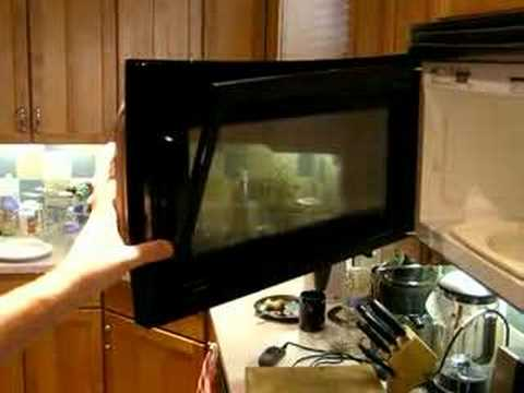 Microwave Door Disassembly - YouTube