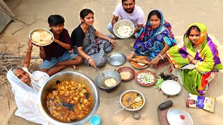 village vlog with Limu & Grandmother with Chola Puri and Ghugni our Morning Breakfast | villfood