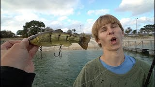 """Fishing With the """"Swimbait Kid"""" for Giant Bites"""