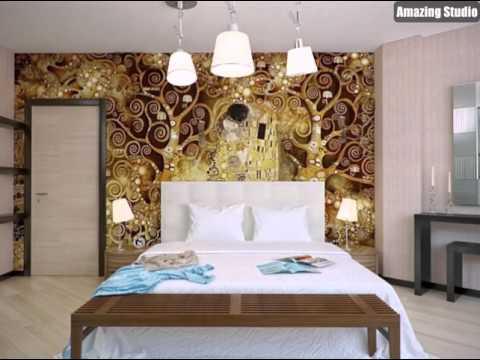 Schlafzimmer Weiss Braun Gold - Wohndesign -