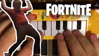 FORTNITE ORANGE JUSTICE... but it's played on a $1 piano