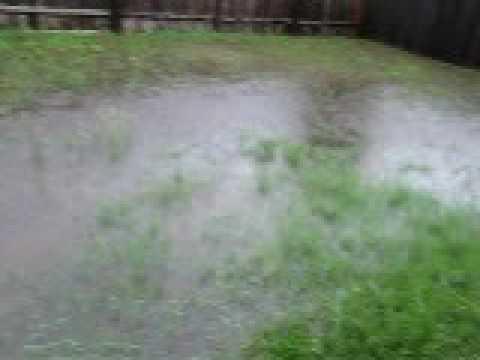totel flash flood in my back yard 9 12 09 ceder park texas