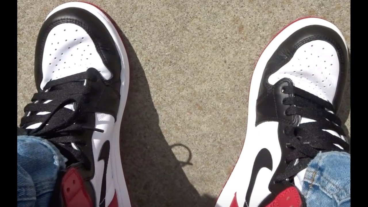 2016 AIR JORDAN BLACK TOE 1 REALEST ON FOOT REVIEW ON YOUTUBE - YouTube eeed76f1f