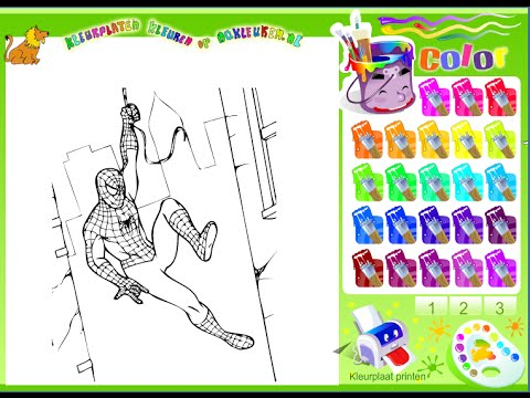 Spiderman Coloring Pages - Spiderman Games - YouTube