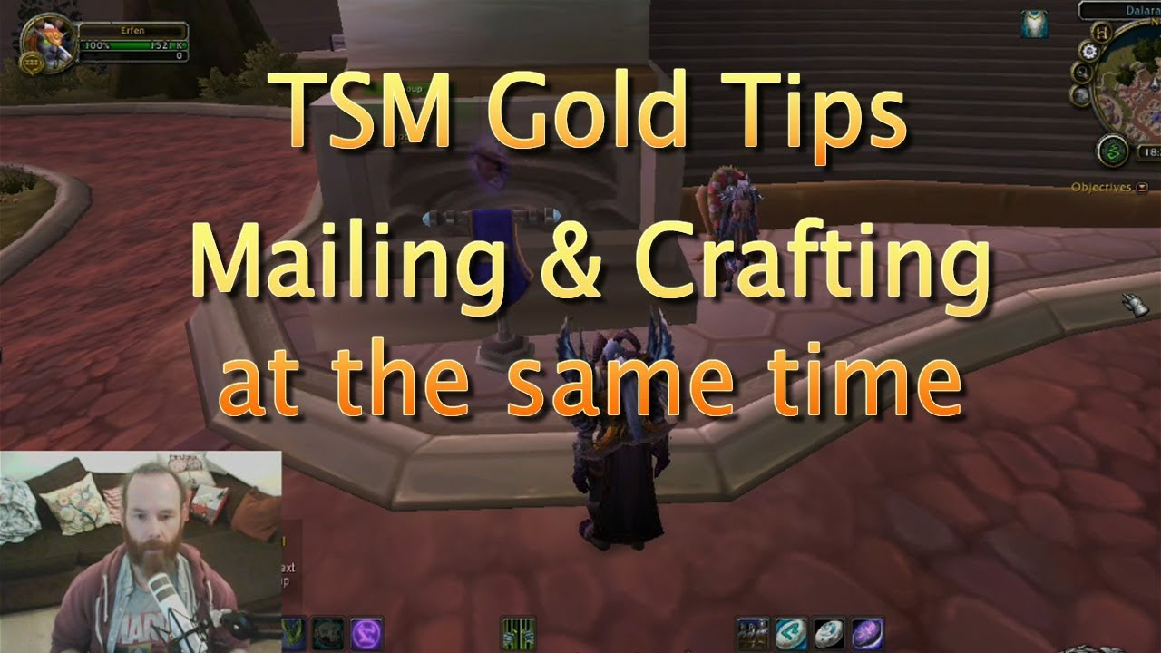 WoW Gold Tips - How to Craft and Mail at the same time using TSM