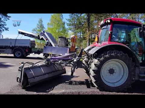 Stockholm-Sweden, Cleaning and Recycling sands and salt from streets after winter!