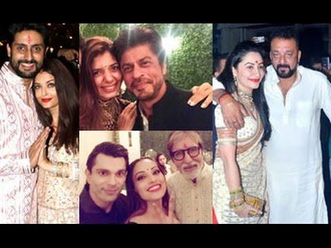 Download UNCUT Amitabh Bachchan GRAND Diwali Party 2016   SRK, Ranbir, Katrina, Abhishek, Karan Johar