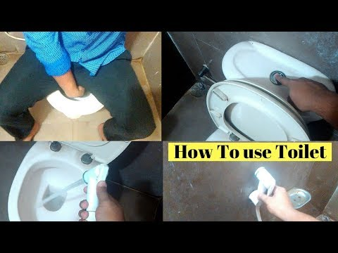 How to use English toilet.English toilet using system-first part