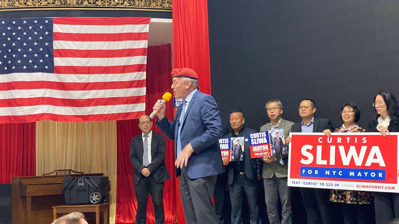 10/17 Live纽约第一直播 纽约共和党市长候选人 Sliwa  竞选 捐款餐会