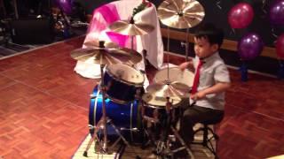 Gentleman drum cover, 4-Year-Old Drummer