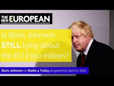 Is Boris STILL lying about the EU £350million?!
