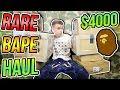 $4000 RARE BAPE HAUL CLOTHES / ACCESSORIES (57 ITEMS)