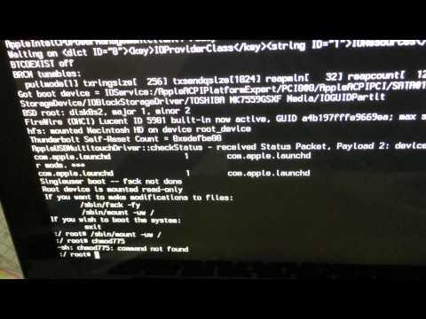 Не загружается Mac OS X - решение проблемы