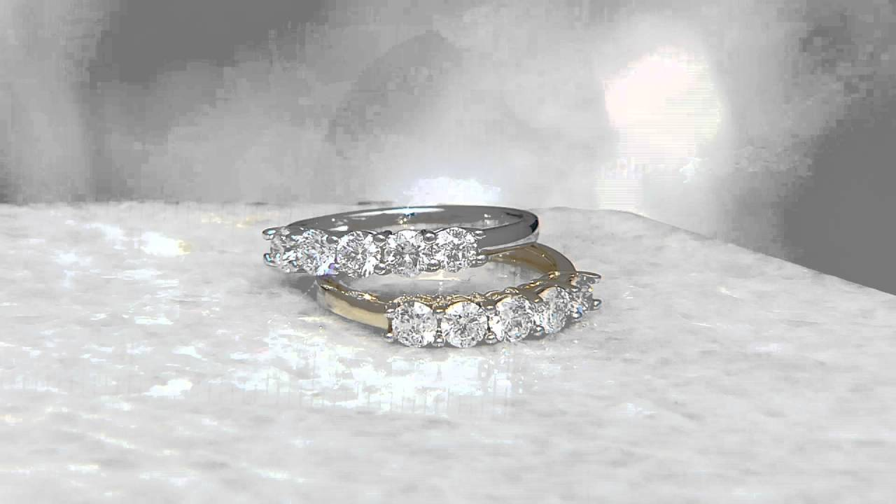 100 Cttw 5 Stone Diamond Band Ring, 14k Gold, By Affinity On Qvc