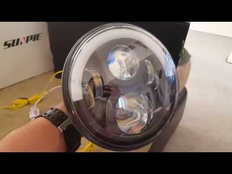 Sunpie Led Headlights 7 Quot Half Halo On A 2012 Jeep Wrangler
