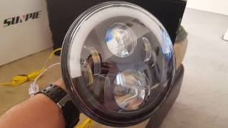 sunpie led headlights 7 half halo on a 2012 jeep wrangler unlimited install and instructions