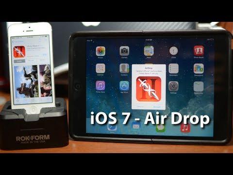 IOS 7 AirDrop Demo With IPhone 5 & IPad Mini