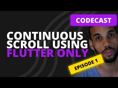 Flutter Tutorial   Build a continuos scrolling list   My code refactor process