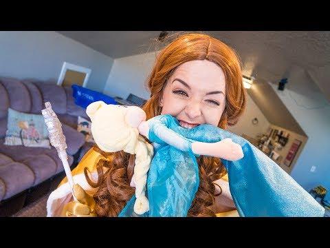 Belle & Frozen Elsa, Dragon TWINS Magic Wand BLOOPERS!! | Twin Family Fun