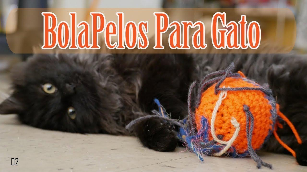Bola Pelos Para Gatos Crochet - YouTube
