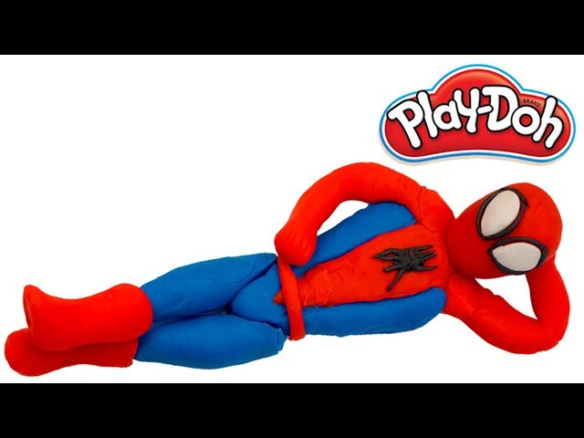 Play doh Spiderman | Learn how to make a play doh Spider-man | Leran colors with play-doh| |