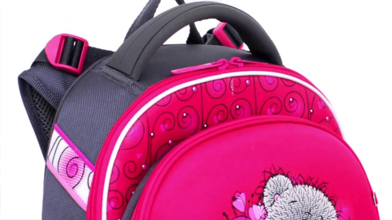 e530db84a52a Школьный ранец с ортопедической спинкой для девочки 1-4 класс Hummingbird  TK12 teddy bear