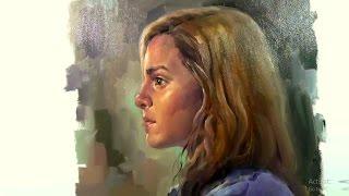 Oil Painting on Canvas : Girl Portrait Demo Paint