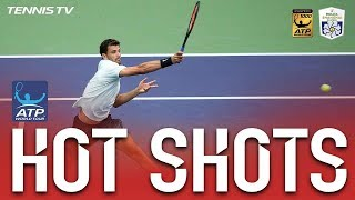 Hot Shot: Dimitrov And Nadal's Athleticism In Shanghai 2017