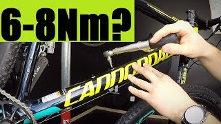 "Tightening Bolts Safely - How To Use A Torque Wrench + ""By Hands"" Tips... Bicycle Maintenance"