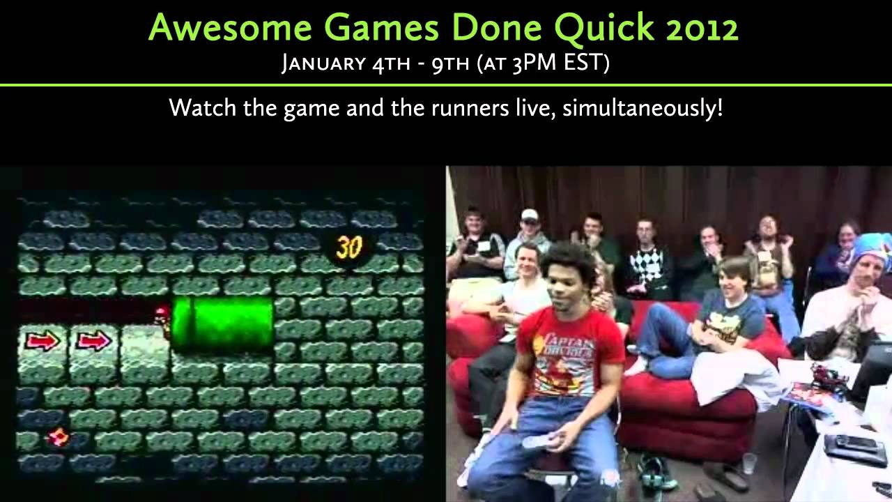 Speed Demos Archive Awesome Games Done Quick Charity