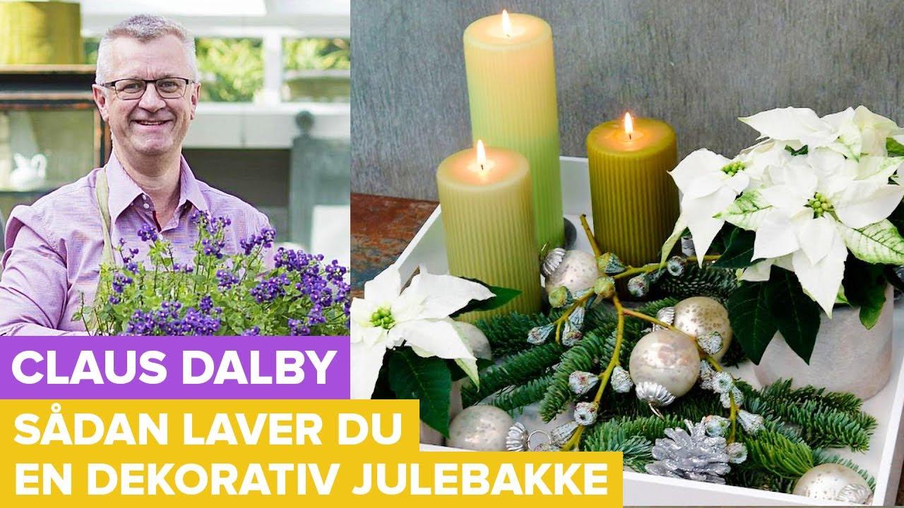 Claus Dalby laver julebakke med julestjerner  - Juledekorationer (4:8)