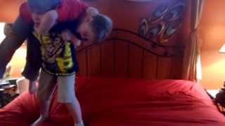 WHOLE VIDEO OF WWE KIDS wrestling mysterio cries when CENA beats him