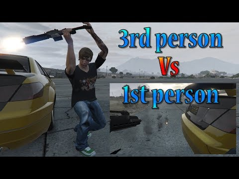 1st person moves from 3rd person view (GTA V)