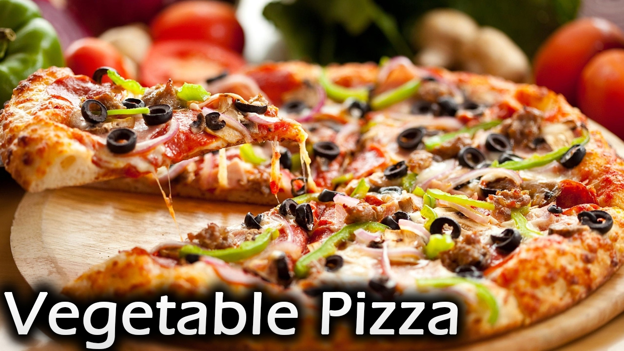 Vegetable pizza | No yeast pizza | Pizza without oven | Easy panmade pizza - YouTube