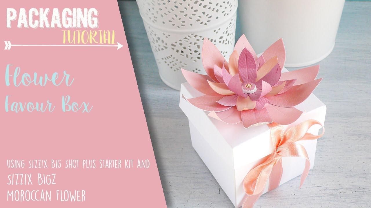 Flower Favor Box for Wedding - Sizzix Big Shot Plus Starter Kit ...