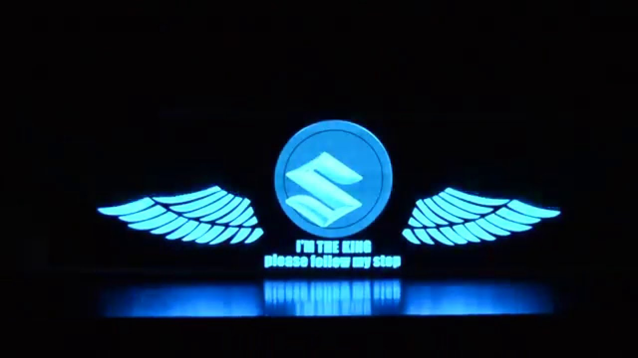 Suzuki Car Stickers Sound Active Equalizer Glow Led Light Youtube