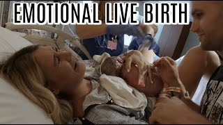 EMOTIONAL LIVE BIRTH VLOG | LABOR AND DELIVERY BIRTH VLOG 2019 | Tara Henderson