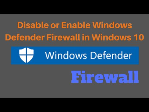 How To Disable Or Enable Windows Defender Firewall In Windows 10