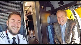 Surprising my dad as a pilot on his flight!