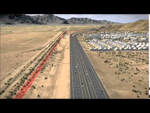 Map Of Loop 202 Arizona.Loop 202 South Mountain Freeway 3d Fly Through Video Youtube