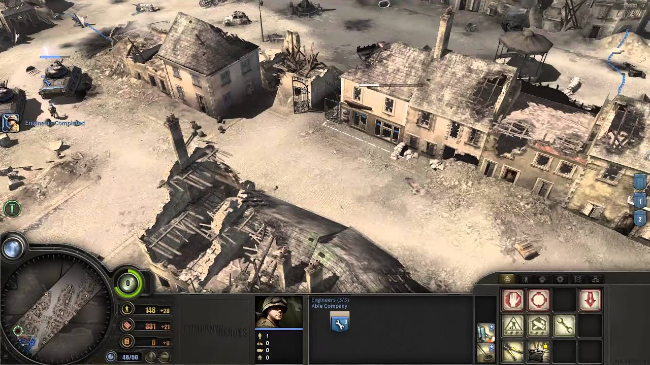 Company Of Heroes 06 Invasion Of Normandy Cherbourg Youtube