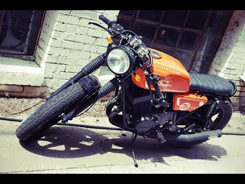orange color modify yamaha rx100 highly modify rx100 like a cafe