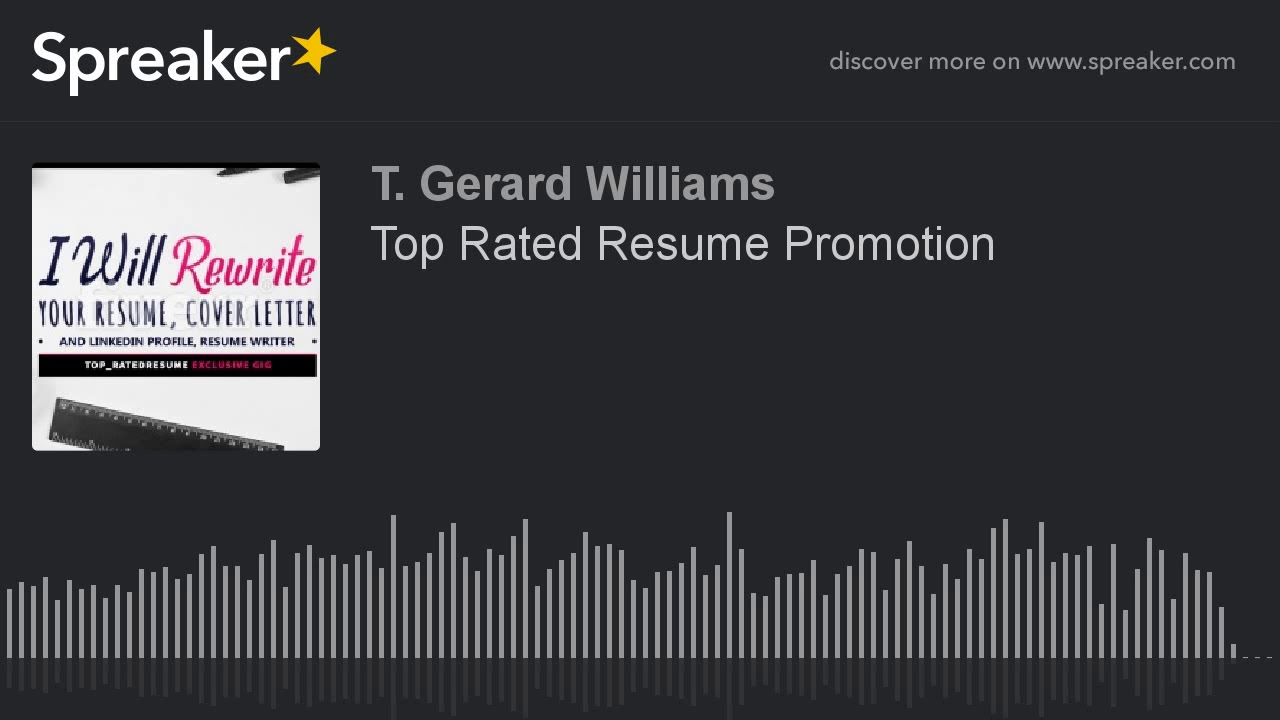 top rated resume promotion