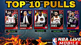 TOP 10 PULLS IN NBA LIVE MOBILE 18! #1